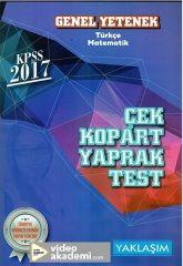 2017 KPSS Genel Yetenek Çek Kopart Yaprak Test Yaklaşım Yayınları