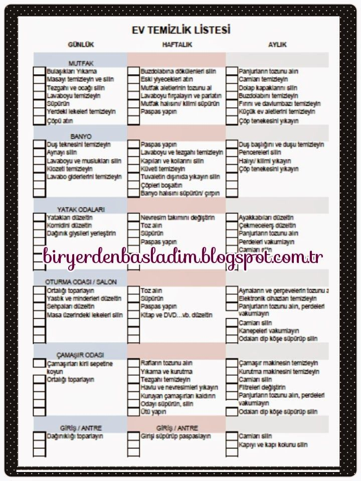 BİR YERDEN BAŞLADIM: Liste - #Temizlik Listesi  http://biryerdenbasladim.blogspot.com.tr/2014/11/temizlik-listesi_26.html?m=1