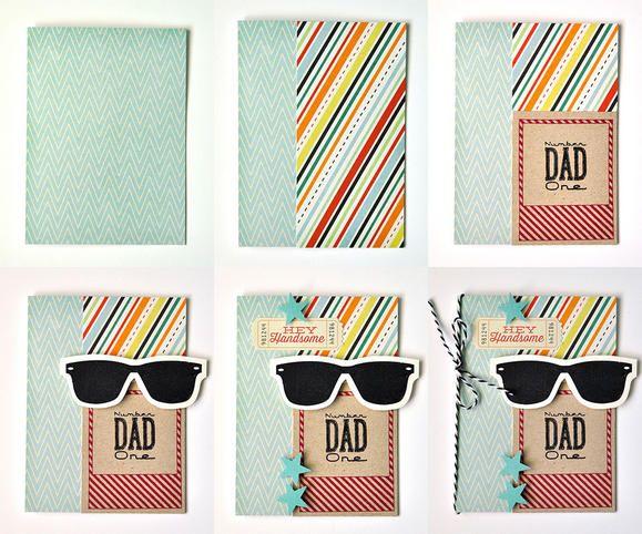 Fun Father's Day card www2.fiskars.com