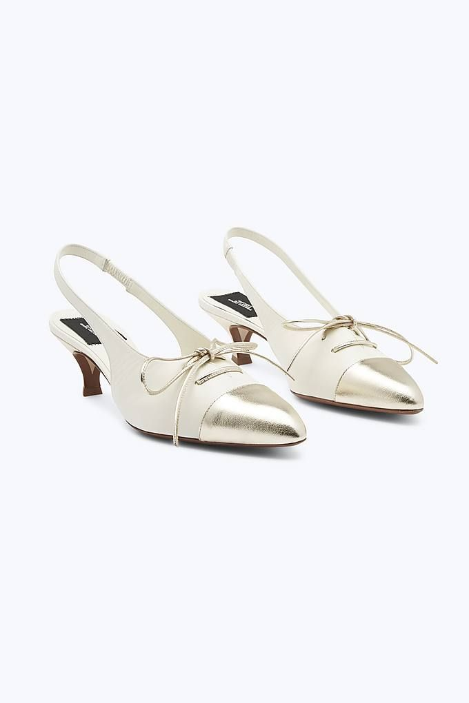 bf63a61eea Marc Jacobs Kitten Heel Slingback Pump in Ivory | Marc Jacobs Shoes ...