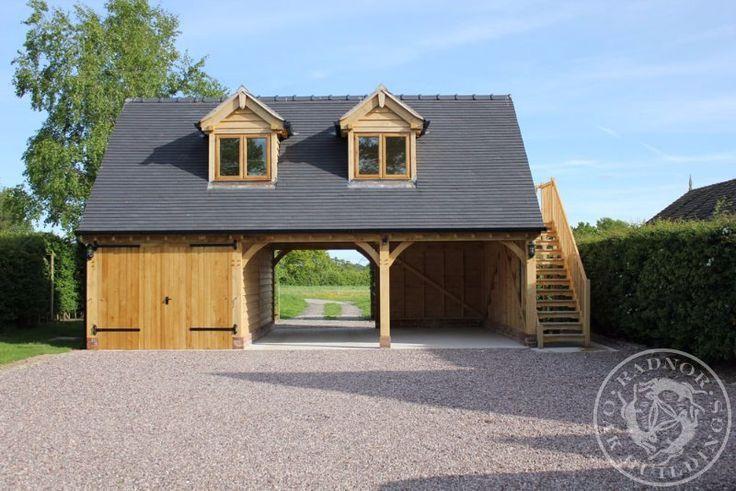 Radnor Oak - Oak Framed Garage - 3 Bay - First Floor - Dormer Windows - Home Office