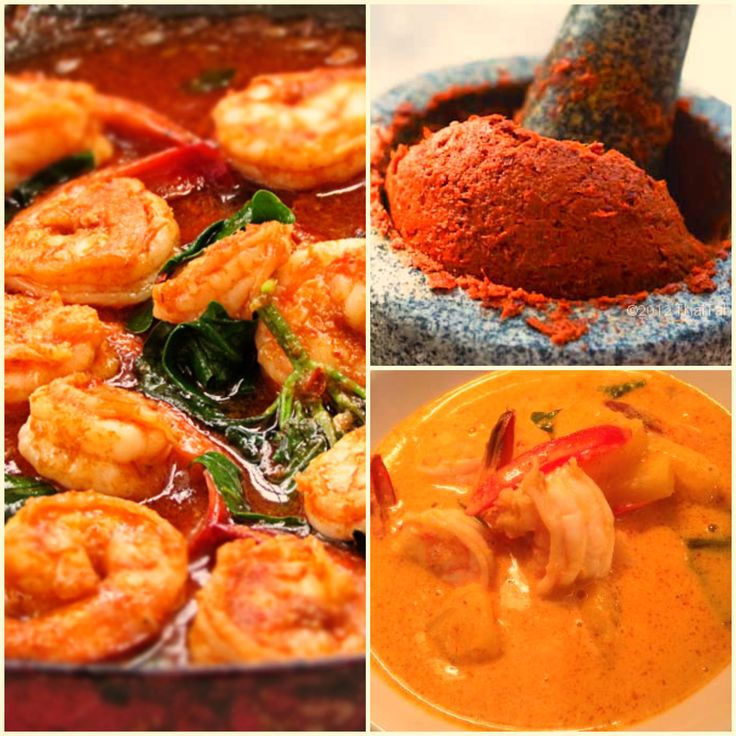 thai food: red curry