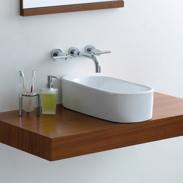 17 best images about bathroom sinks on pinterest glass sink bathroom sinks and sinks - Slim cloakroom basin ...