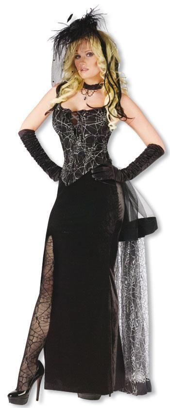 Schwarze Witwe Kostüm S | Elegantes Witwen Kostüm | horror-shop.com