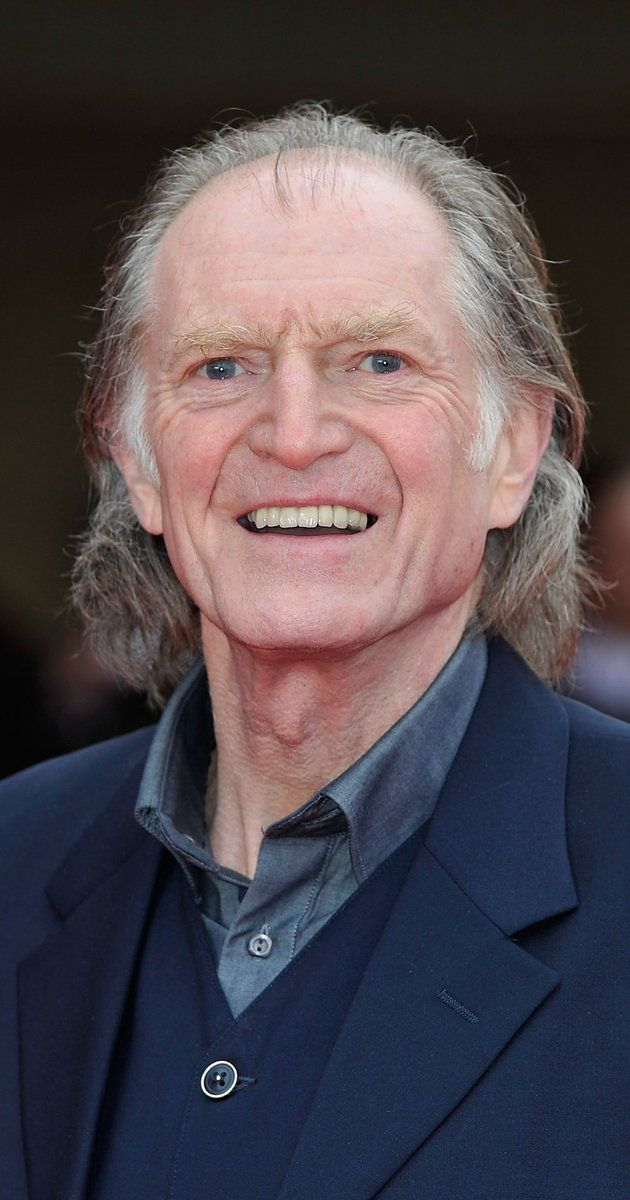 I picked this image because of the high hair line, the thinned out nose, and multi folds near the mouth/chin.  David Bradley, Actor: Captain America: The First Avenger. David Bradley was born on April 17, 1942 in York, Yorkshire, England as David John Bradley. He is an actor, known for Captain America: The First Avenger (2011), Harry Potter and the Prisoner of Azkaban (2004) and Harry Potter and the Sorcerer's Stone (2001).