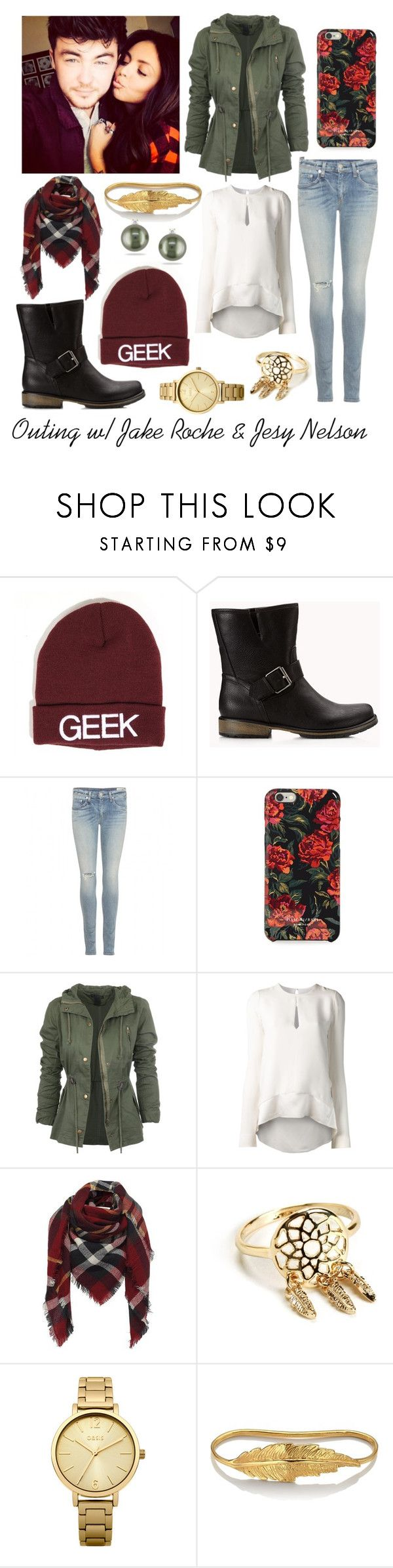 """""""Outing with Jake Roche & Jesy Nelson"""" by mamzeel-coralie ❤ liked on Polyvore featuring Forever 21, rag & bone, Isaac Mizrahi, Narciso Rodriguez, Oasis, LeiVanKash, Miadora, littlemix, JesyNelson and RIXTON"""