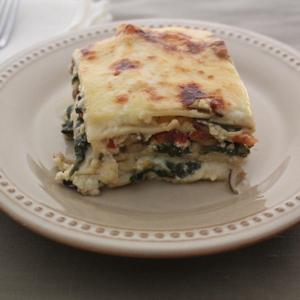 Emeril's Spinach, Mushroom, And Four Cheese Lasagna