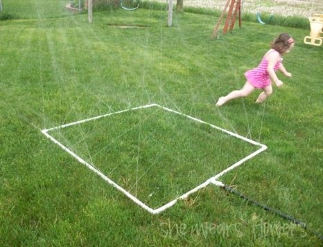 25 Water Games and Activities for Kids - sprinkler & water the grass at the same time!