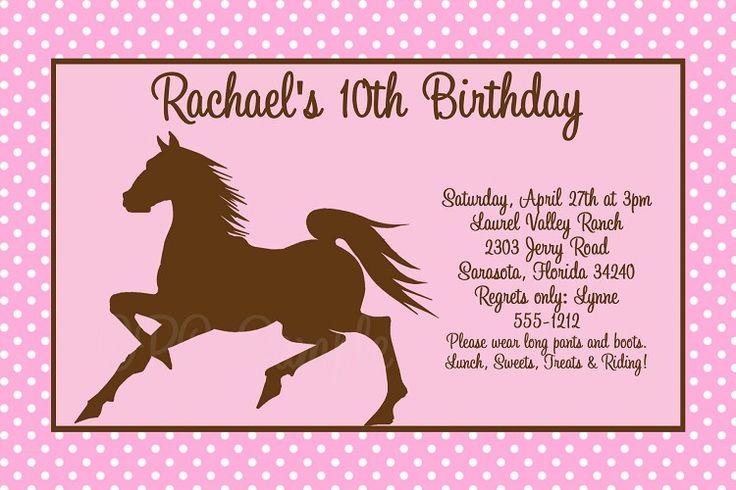 Horse Birthday Invitations Free Printable 4
