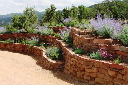 Brick Terrace Gardens Landscape Design Ideas
