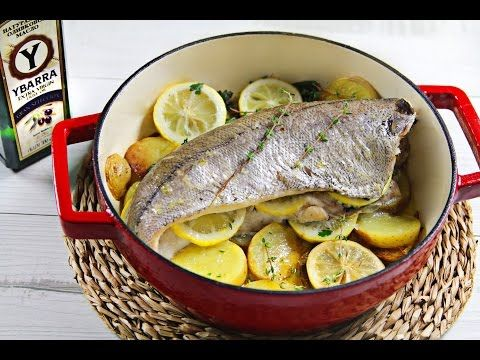 Pescadilla al horno con hierbas y limón y AOVE Ybarra