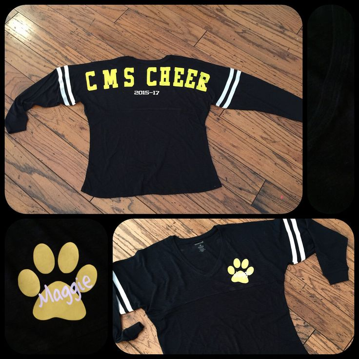 Personalized Cheer Spirit Jersey for my Magpie #cheergift #spiritjersey made on my Silhouette Cameo.