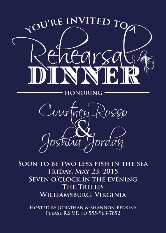Nautical Rehearsal Dinner Invitation Fishing by graceandglee