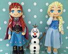 Topo de bolo Elsa, Olaf e Anna Frozen