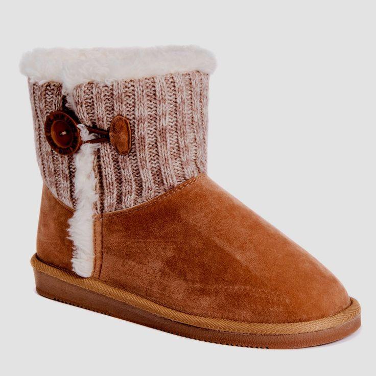 Women's Muk Luks Samara Shearling Style Boots - Tan 10
