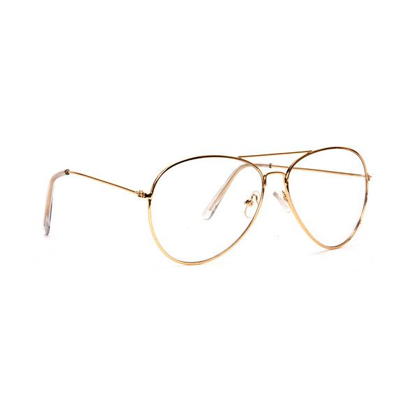 gravity shades premium aviator clear lens glasses gold gravity liked on polyvore featuring accessories eyewear eyeglasses glasses clear aviator