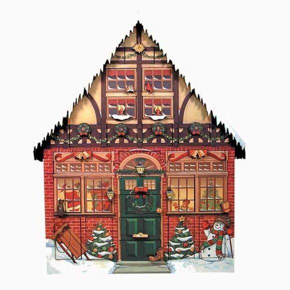 Christmas House Wooden Advent Calendar - Fortnum & Mason