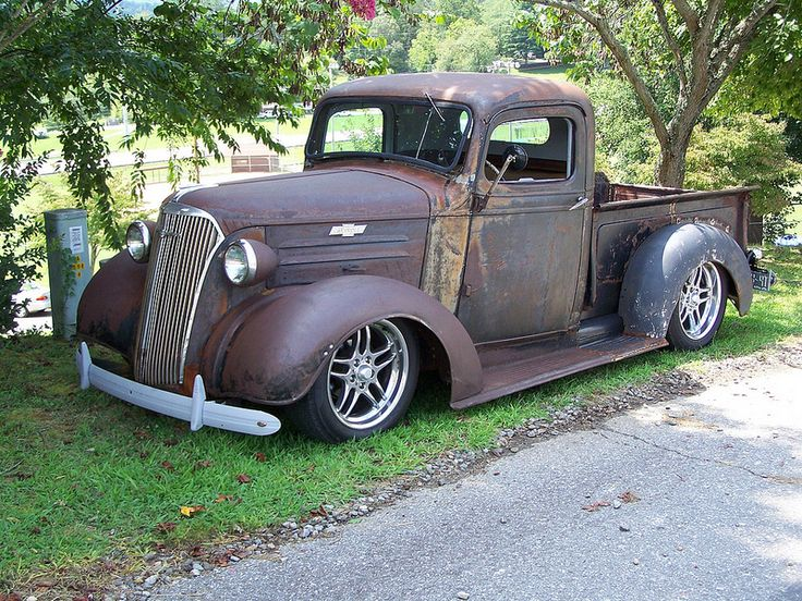 1937 CHEVY RAT ROD TRUCK | by classicfordz, old truck, pick-up, wheels, classic, oldsmobile, rusty, wheels, curves, hot, cool