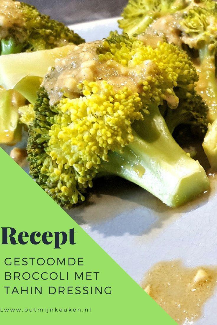 Recipe in Dutch: Cook Expert #8: gestoomde broccoli met tahindressing