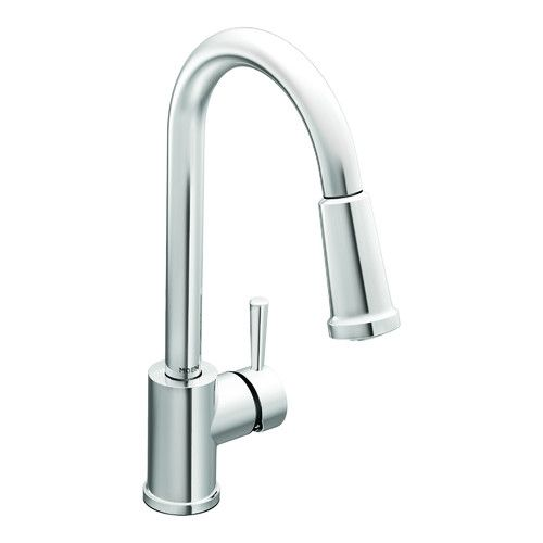 Laundry Room Faucet Level Chrome One Handle High Arc Pulldown Kitchen Faucet    7175