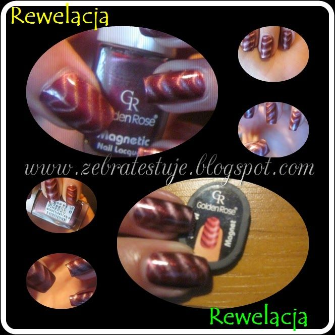 Zebra Testuje: Golden Rose Magnetic Nail Lacquer #205