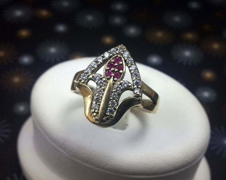 ORCHID! Turkish Topaz Sterling Silver 925K Handmade Ruby Stone Ring Size 8 #Handmade #RingHarness