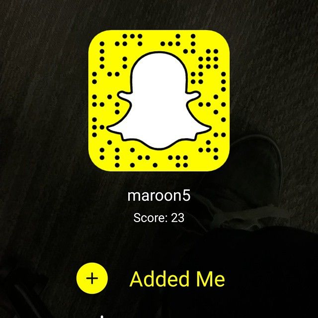 Pin for Later: These Celebrity Snapchat Accounts Are So Hot They May Actually Steam Up Your Phone Screen Maroon 5: maroon5