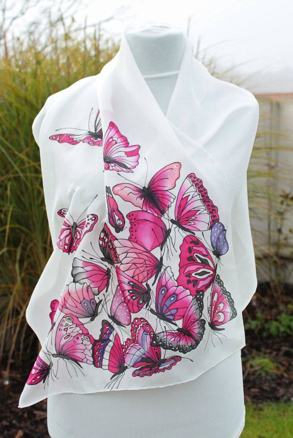 Hand painted silk by Aryonelle on Etsy