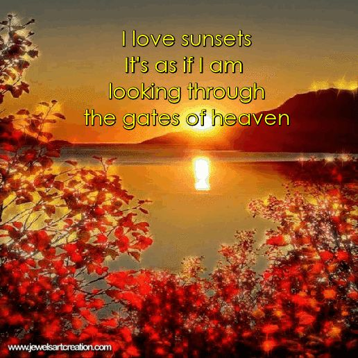 Glitter graphics, sunset quote, sunset animation, beautiful quotes, inspirational quotes