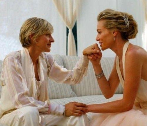 Portia De Rossi Wedding Gown: 17 Best Images About Ellen And Portia