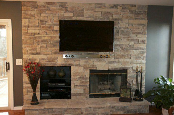 wohnzimmer gestalten wohnzimmer einrichten wandpaneele tv wand fernsehwand wandpaneele steinoptik