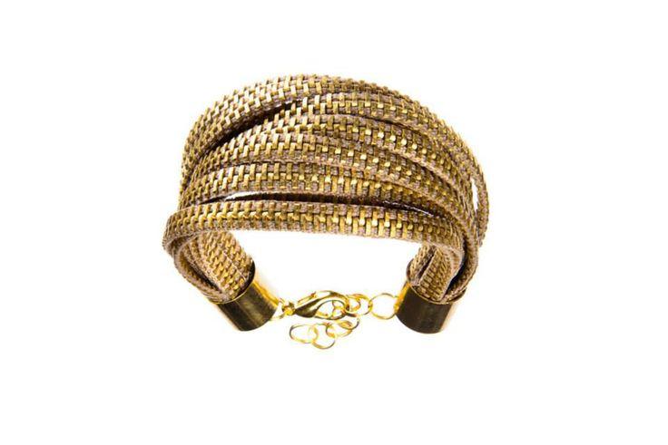 Original bracelet made from zippers.  Recycling jeweller at http://dekoeko.com/sklep/#/bizuteria-2
