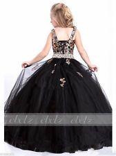 Vestido de baile Negro Lentejuelas Niñas/Niños vestidos -- desfile vestido Hi Glitz Nacional