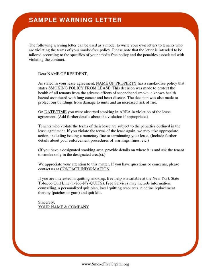 How To Write A Tenant Warning Letter - The best expert's estimate