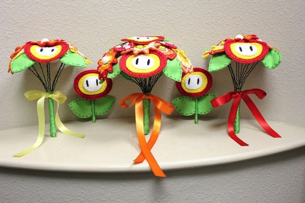 Nerd wedding bouquets from Super Mario