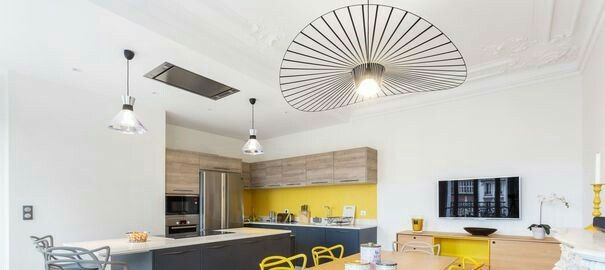 12 best Aménagements Cuisine images on Pinterest Kitchen ideas - espace entre plan de travail et meuble haut