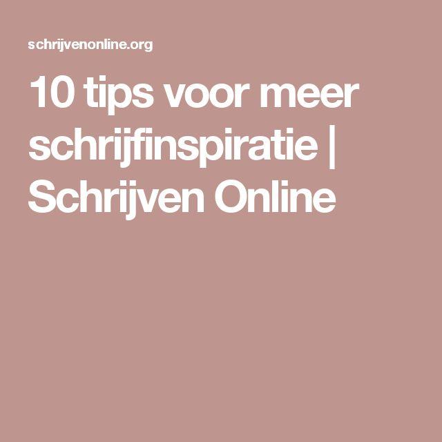 10 tips voor meer schrijfinspiratie | Schrijven Online