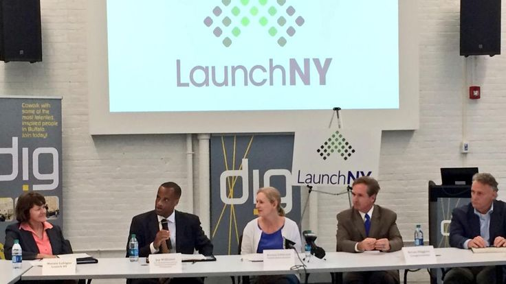 At @DigBuffalo today, @RepBrianHiggins, @US_EDA & I annced new economic development grant for 27 #NY counties.