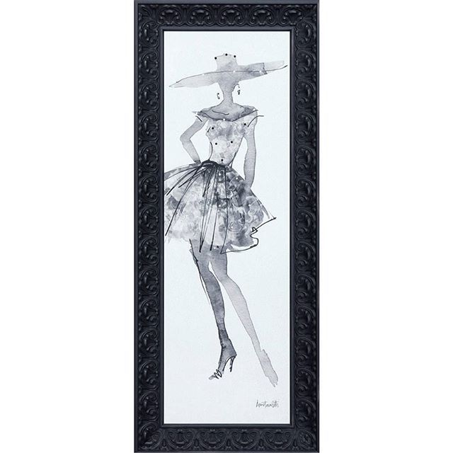 Fashion Sketch V (12X47) Framed and accented with Swarovski crystals. ••••••••••••••••••••••••••••••••••••••••••••• Call (909) 989-8558 to place an order.  #art #artoftheday #instaart #aotd #sketch #artprint #giclee #canvas #oilpainting #mirror #abstract #abstractart #homedecor #wallart #customframing #framedart #follow #followme #f4f #swarovski #sale #artforsale #giftideas #happyoctober
