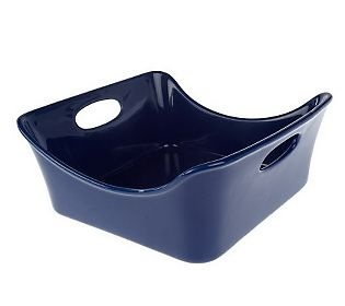 (rachel ray stoneware) I love the square shape, but would prefer a different color.