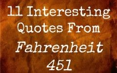 Quotes And Meanings From Fahrenheit 451