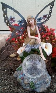 Add this beautiful hand painted solar fairy statue with crackle glass ball to your garden, patio or any favorite outdoor setting. http://www.mysolarshop.com/solar-fairy-crackled-glass-gsfairy028