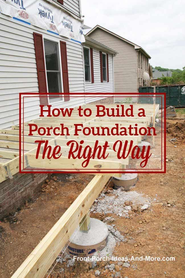 Porch Foundations