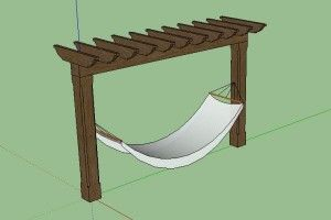 Ok Maybe I dont need a wooden hammock stand... I could build this or make my sweets do it and then couldnt i grow grapes on this ??? HMMM
