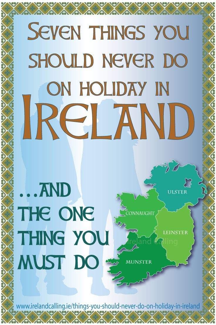 A holiday in Ireland is a great way to connect with the past and for many people, touching down on Irish soil almost feels like coming home.  So far so good, but it doesn't do to overstate your Irish connections when travelling in Ireland. At best it will amuse your Irish hosts and in some cases it may even irritate them.