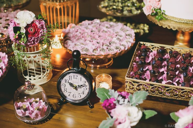 watch + shabby chic + pink and gold
