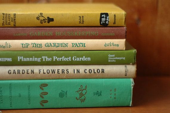 vintage gardening books {sweet gift idea for mother's day}