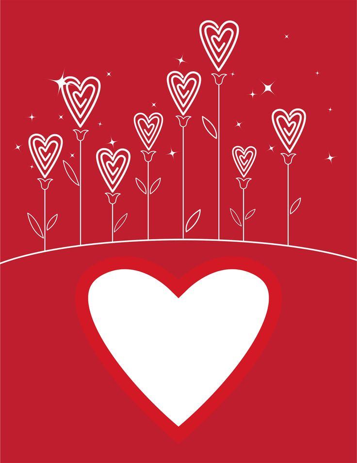 Heart. Heart flowers