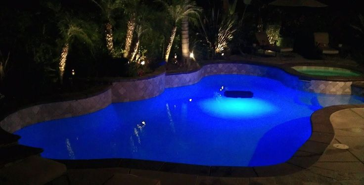 Turn your #pool into a water disco! LED lighting and #water soundsystems will bring all the fun underwater!  Photo credits: @metropoolsandheating