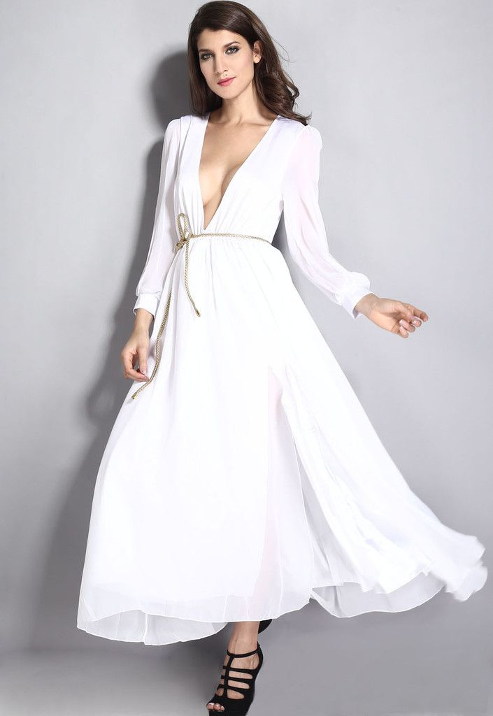 10056 Layered Sheer Ruffling Maxi Dress